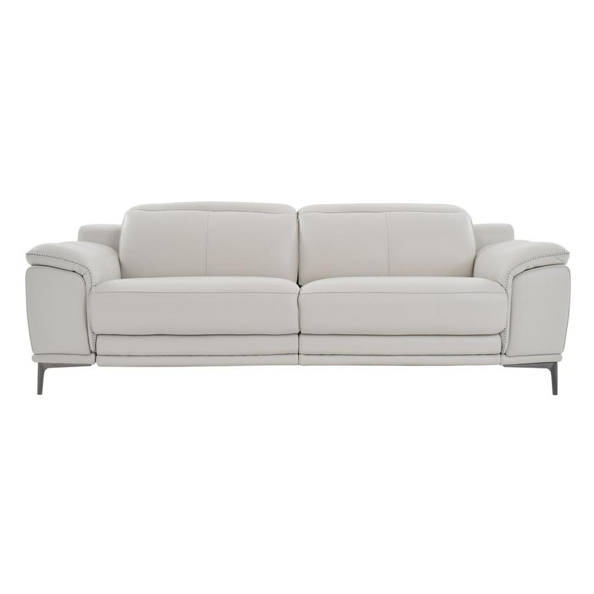 Katherine Gray Leather Power Reclining Sofa  main image, 1 of 8 images.