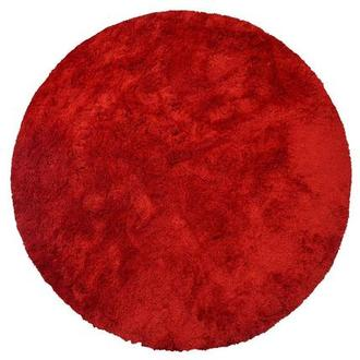 Cosmo Red 8' Round Area Rug