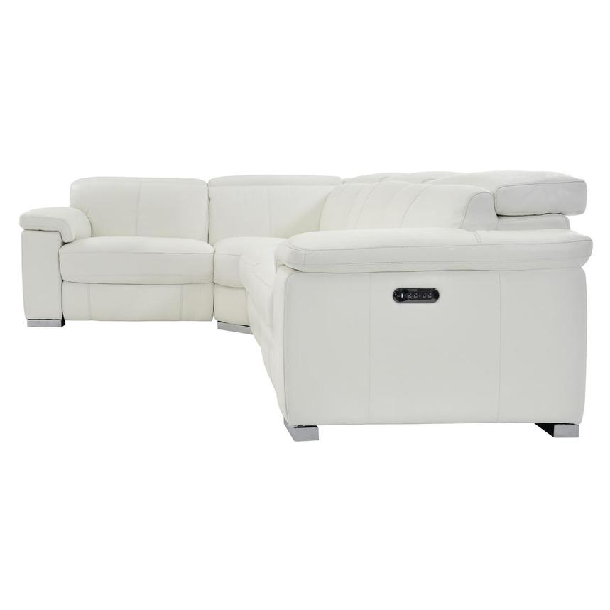 Charlie White Power Motion Leather Sofa w/Right & Left Recliners  alternate image, 3 of 8 images.