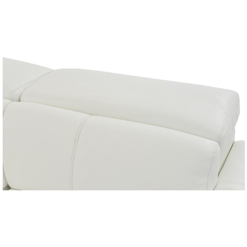 Charlie White Leather Power Reclining Sectional  alternate image, 8 of 11 images.