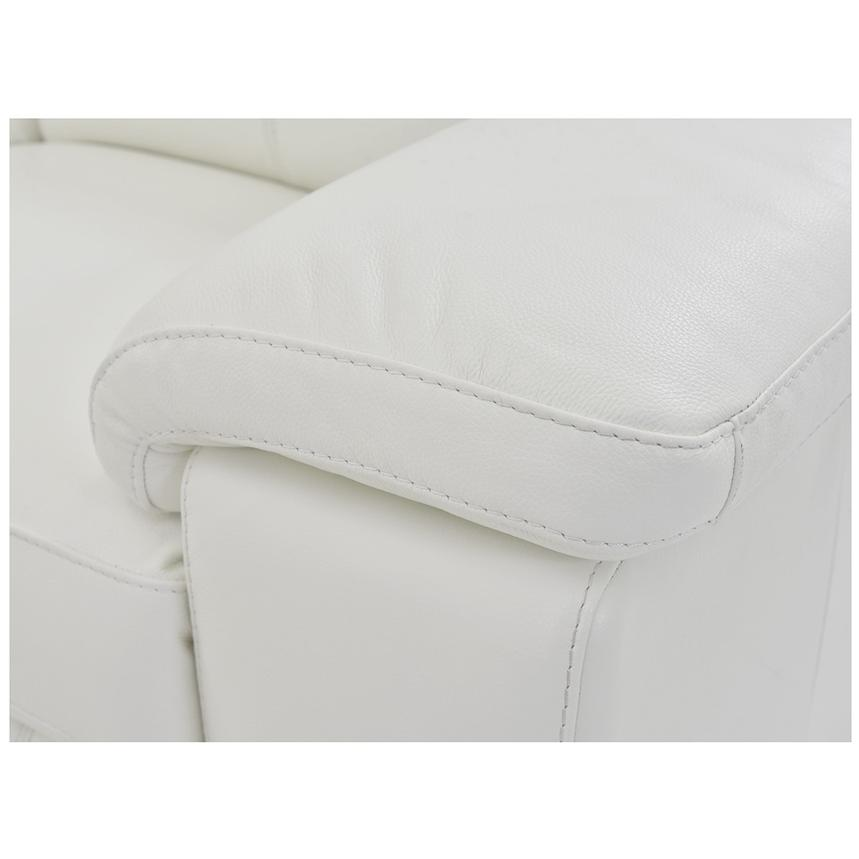 Charlie White Leather Power Reclining Sectional  alternate image, 9 of 11 images.