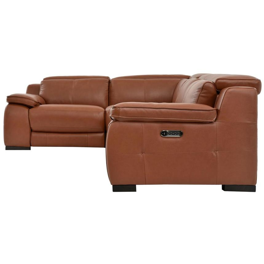 Gian Marco Tan Leather Power Reclining Sectional  alternate image, 3 of 6 images.