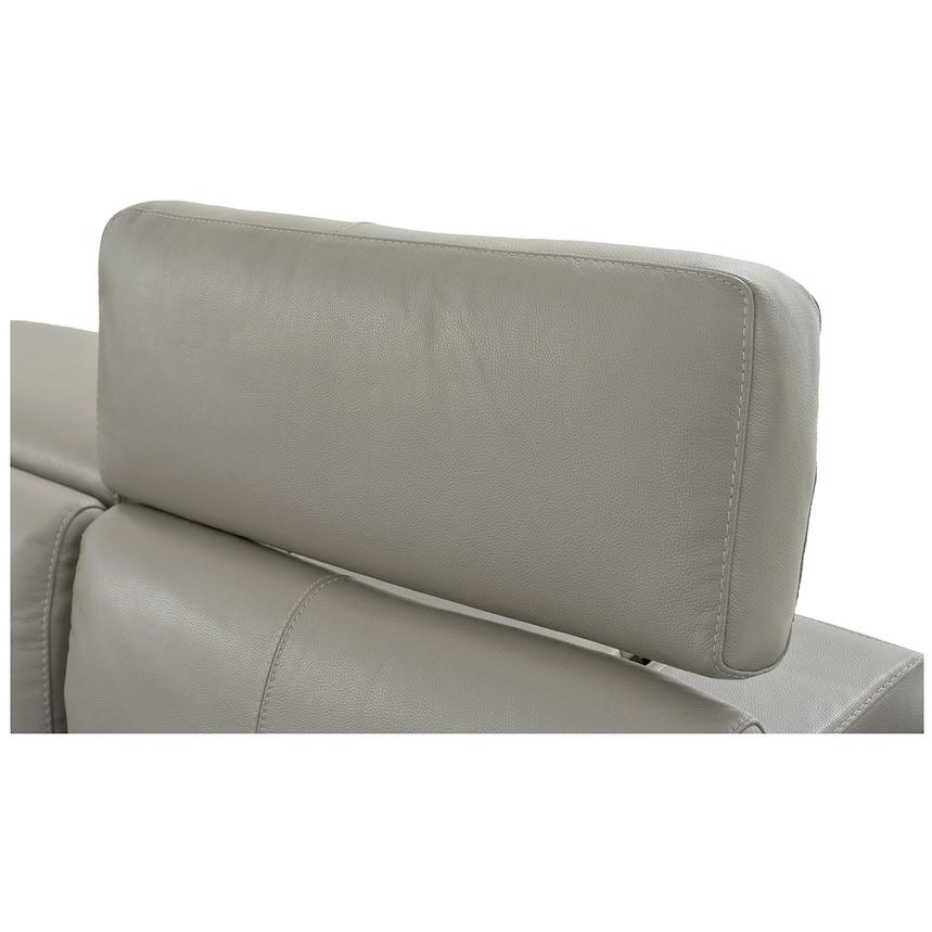 Charlie Light Gray Home Theater Leather Seating  alternate image, 8 of 10 images.