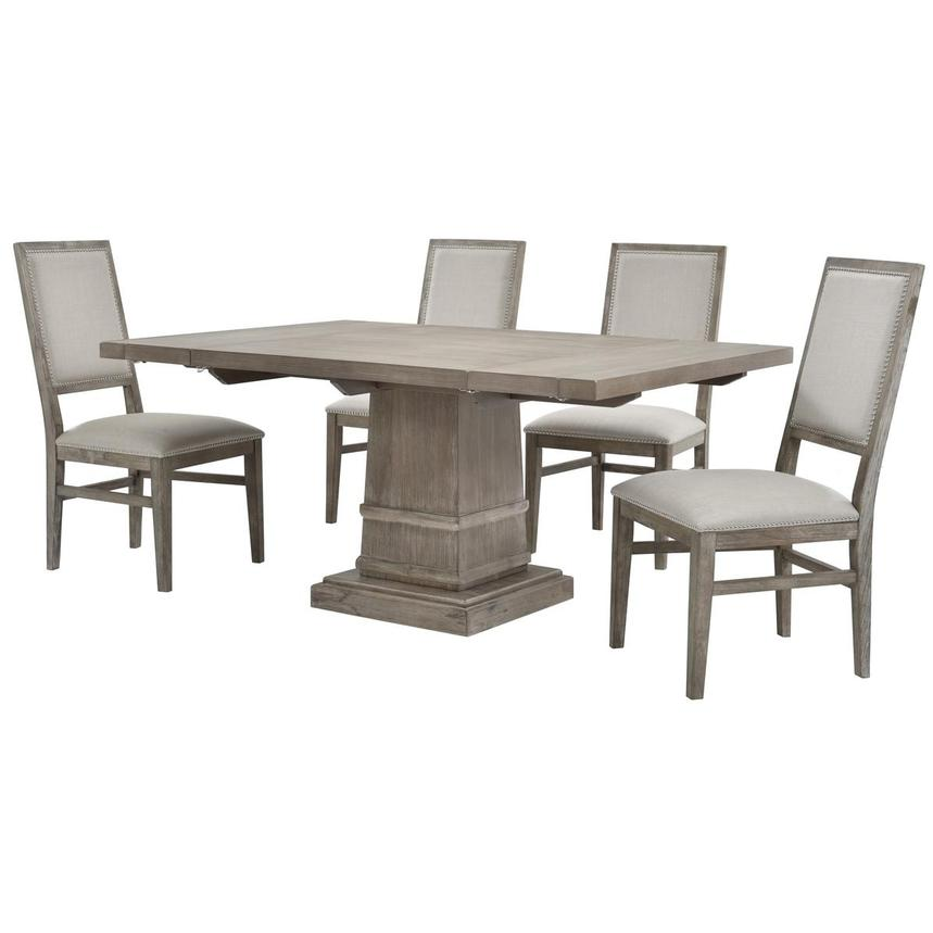 Hudson Gray/Dexter Gray 5-Piece Dining Set  alternate image, 5 of 16 images.