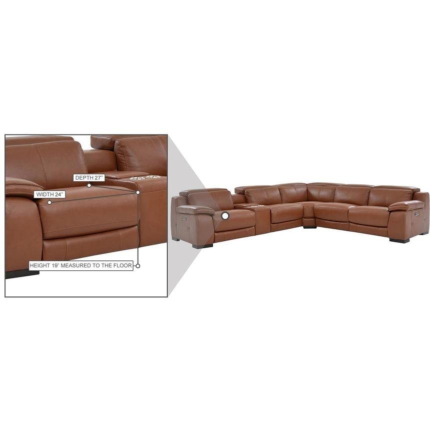 Gian Marco Tan Leather Power Reclining Sectional  alternate image, 9 of 9 images.