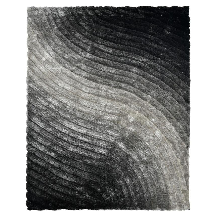 Retro Black 8 X 10 Area Rug El Dorado Furniture
