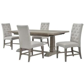 Hudson/Beltran Gray 5-Piece Dining Set