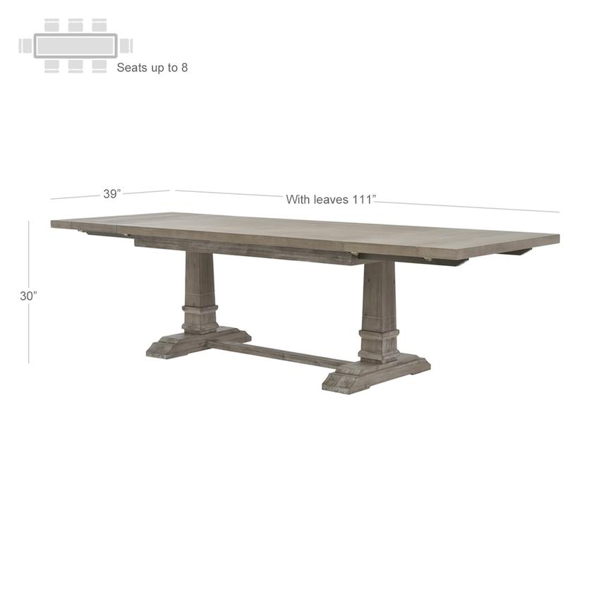 Hudson Gray Extendable Dining Table  alternate image, 2 of 5 images.