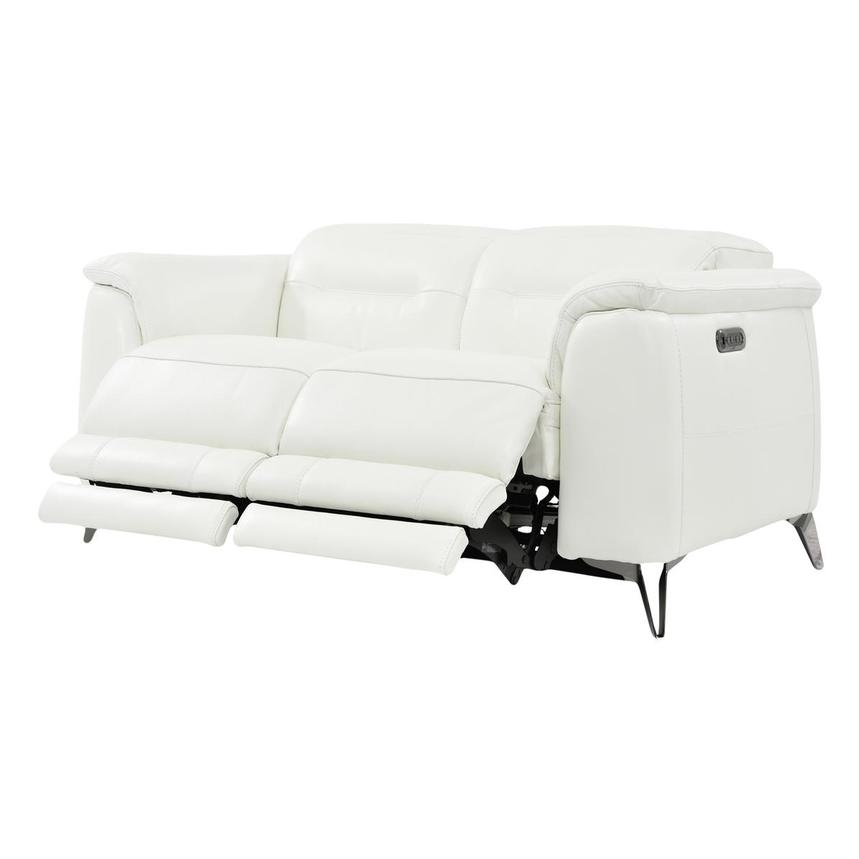 Anabel White Power Motion Leather Loveseat  alternate image, 3 of 8 images.