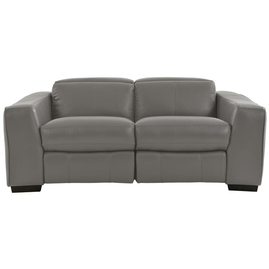 Jay Gray Power Motion Leather Loveseat  main image, 1 of 7 images.