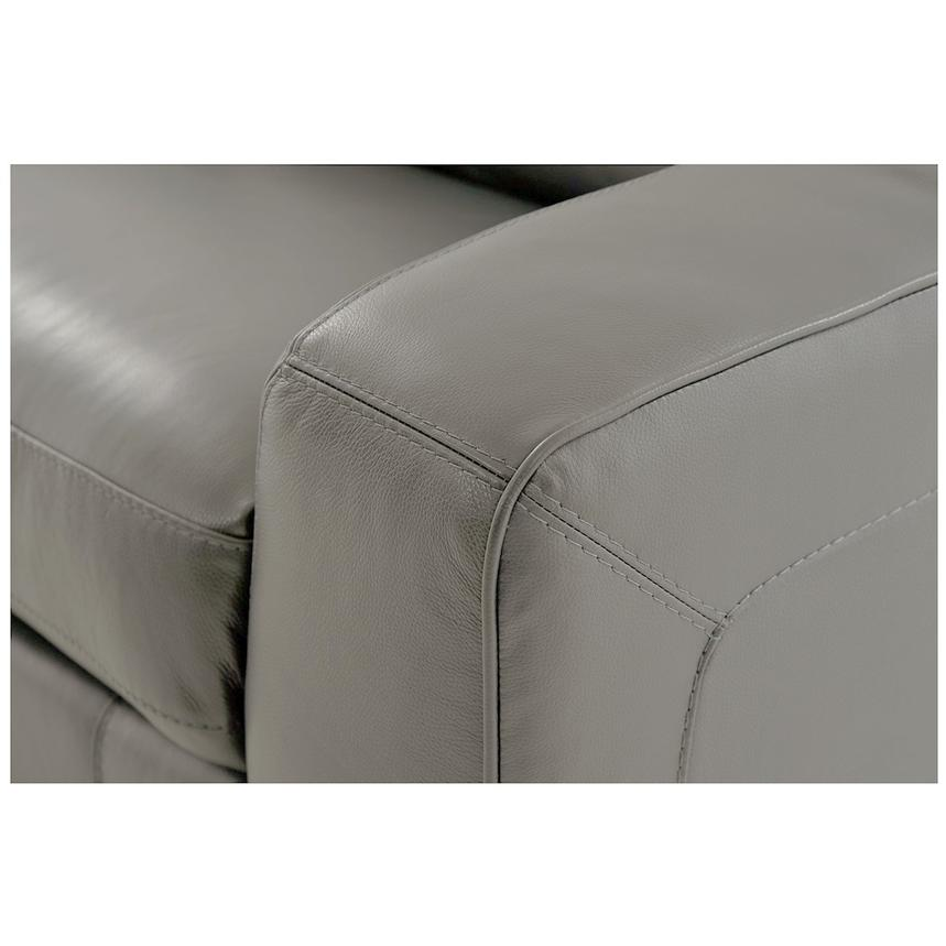 Jay Gray Power Motion Leather Loveseat  alternate image, 6 of 7 images.
