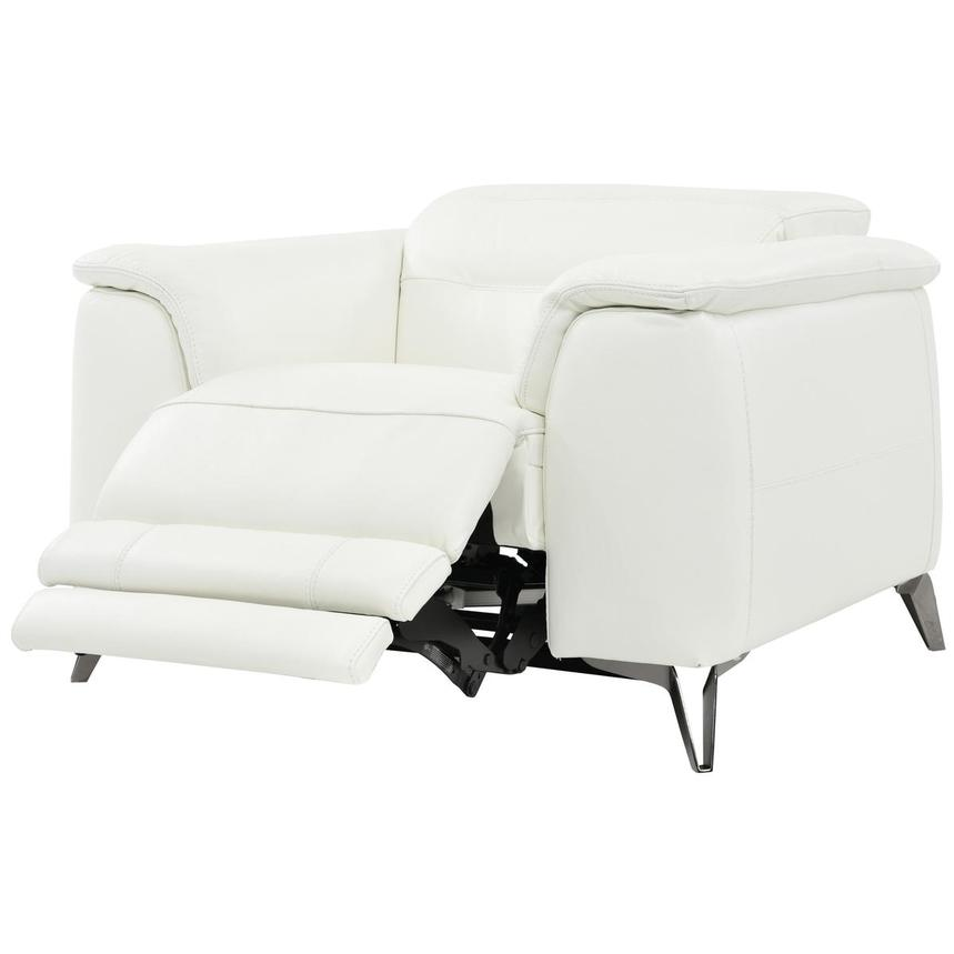 Anabel White Leather Power Recliner  alternate image, 3 of 8 images.
