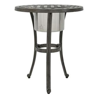 Castle Rock Gray Side Table w/ Ice bucket