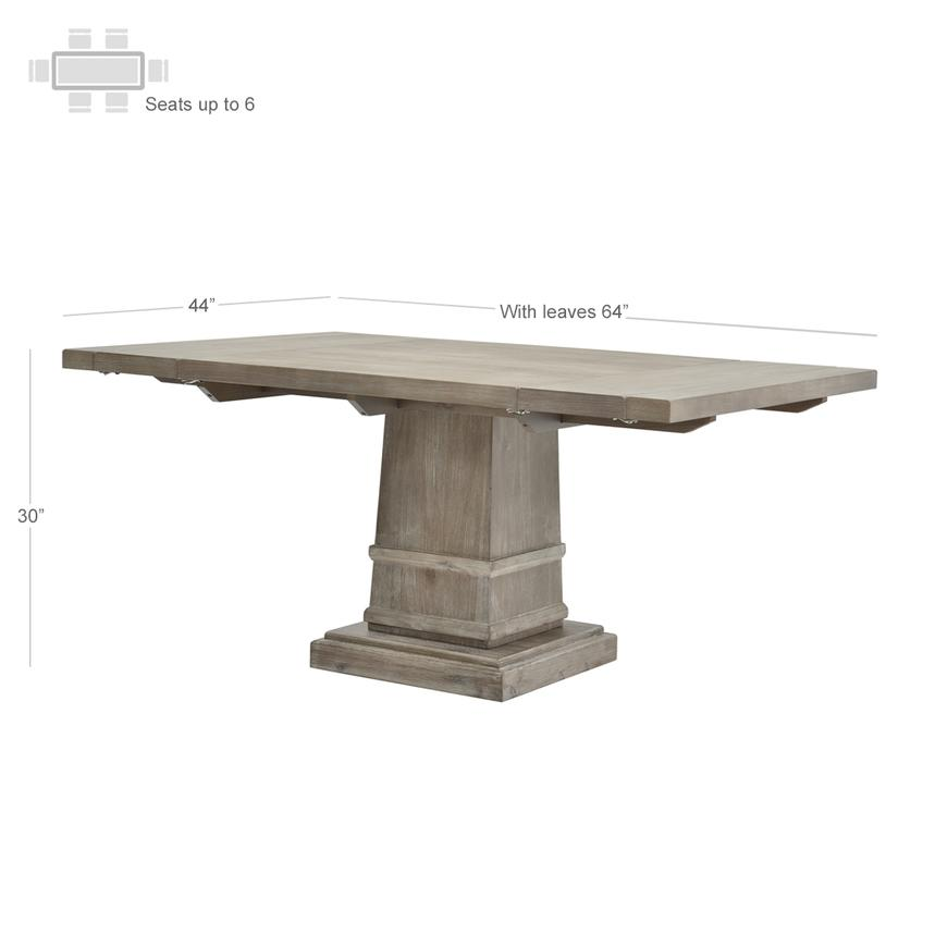 Hudson Gray Extendable Dining Table  alternate image, 3 of 4 images.