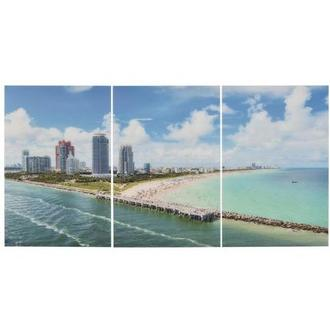 Miami Beach I Set of 3 Acrylic Wall Art