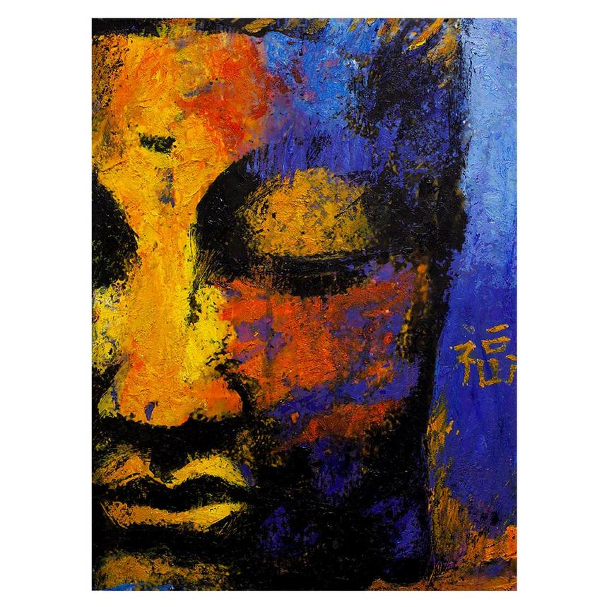 Partial Face Buddha Acrylic Wall Art  main image, 1 of 2 images.