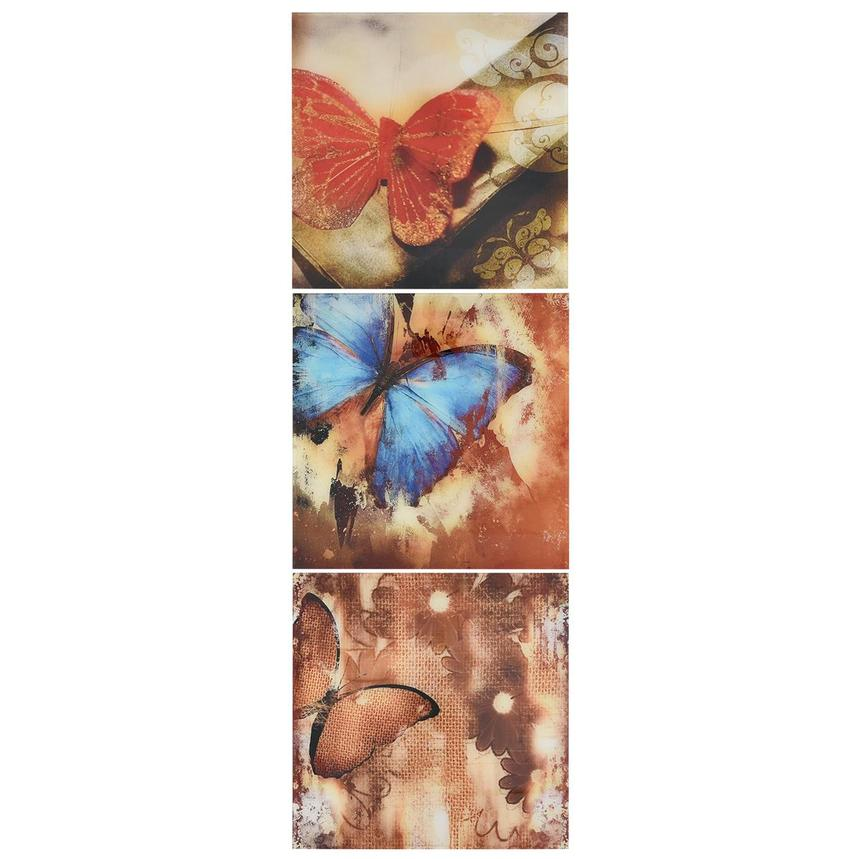 Papillon Set of 3 Acrylic Wall Art  alternate image, 3 of 5 images.