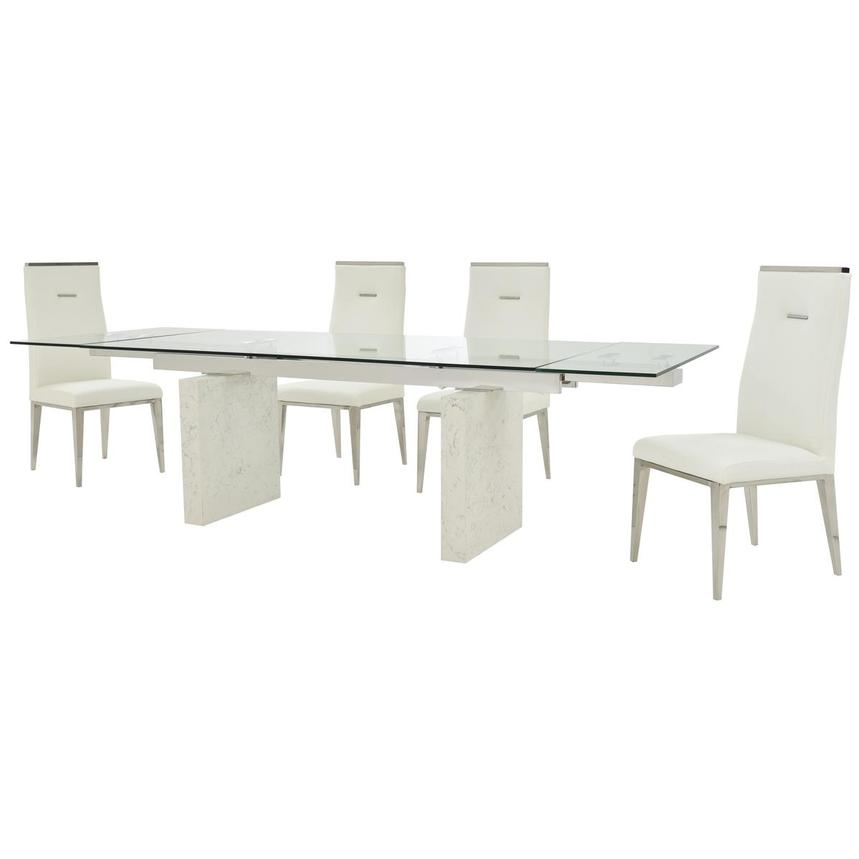 Industria/Hyde I White 5-Piece Dining Set  alternate image, 3 of 16 images.