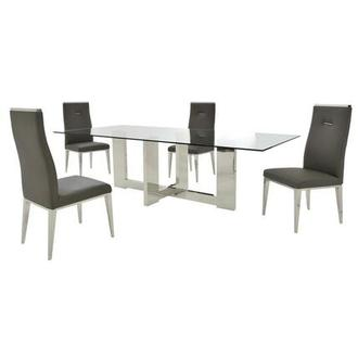 Opus/Hyde I Dark Gray 5-Piece Dining Set