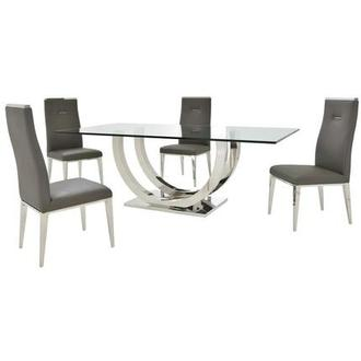 Ulysis/Hyde I Dark Gray 5-Piece Dining Set