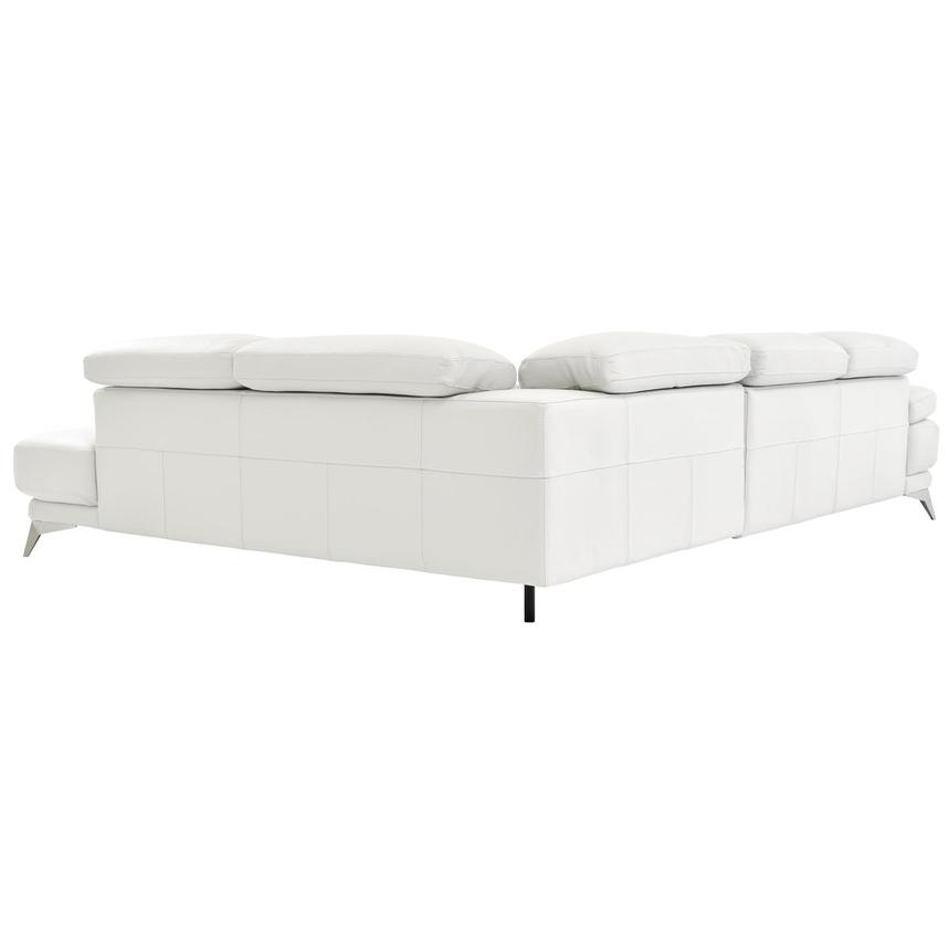 Winner White Leather Sofa w/Right Chaise  alternate image, 4 of 6 images.