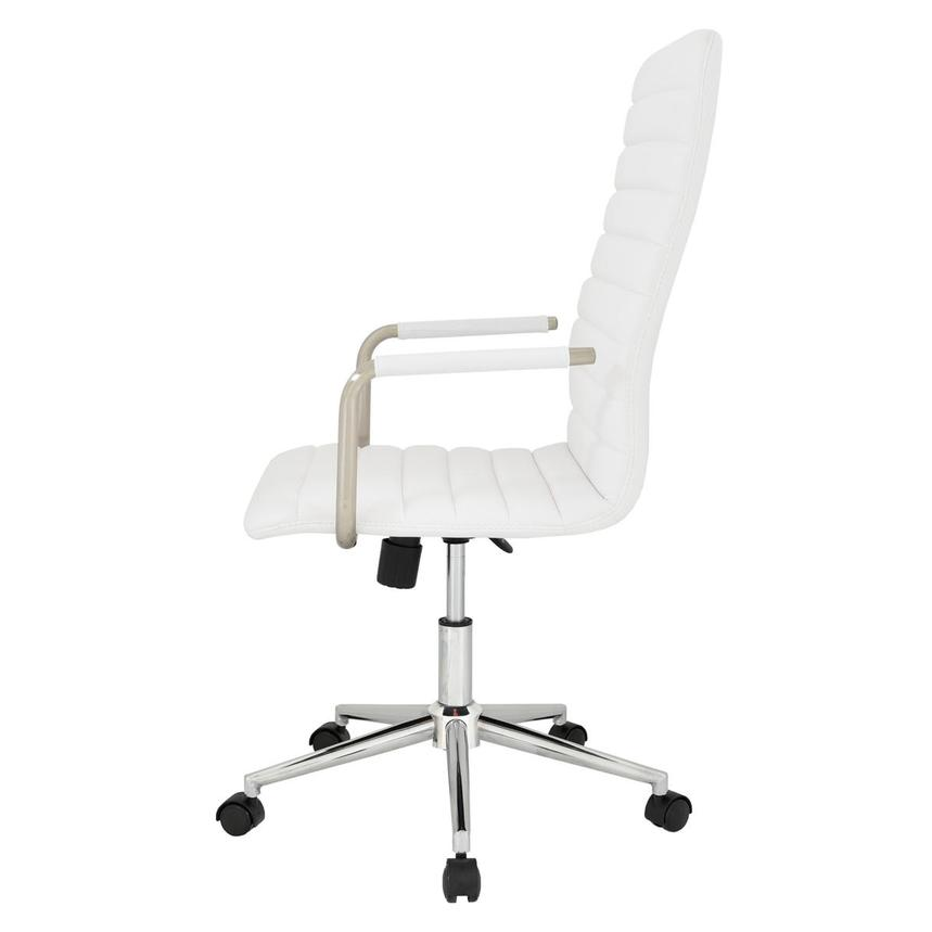 Pivot White High Back Desk Chair  alternate image, 4 of 7 images.