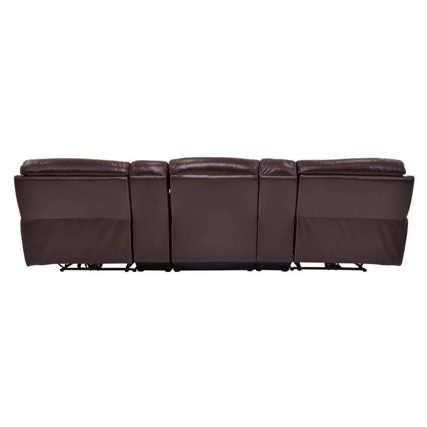 Napa Burgundy Home Theater Leather Seating  alternate image, 5 of 10 images.