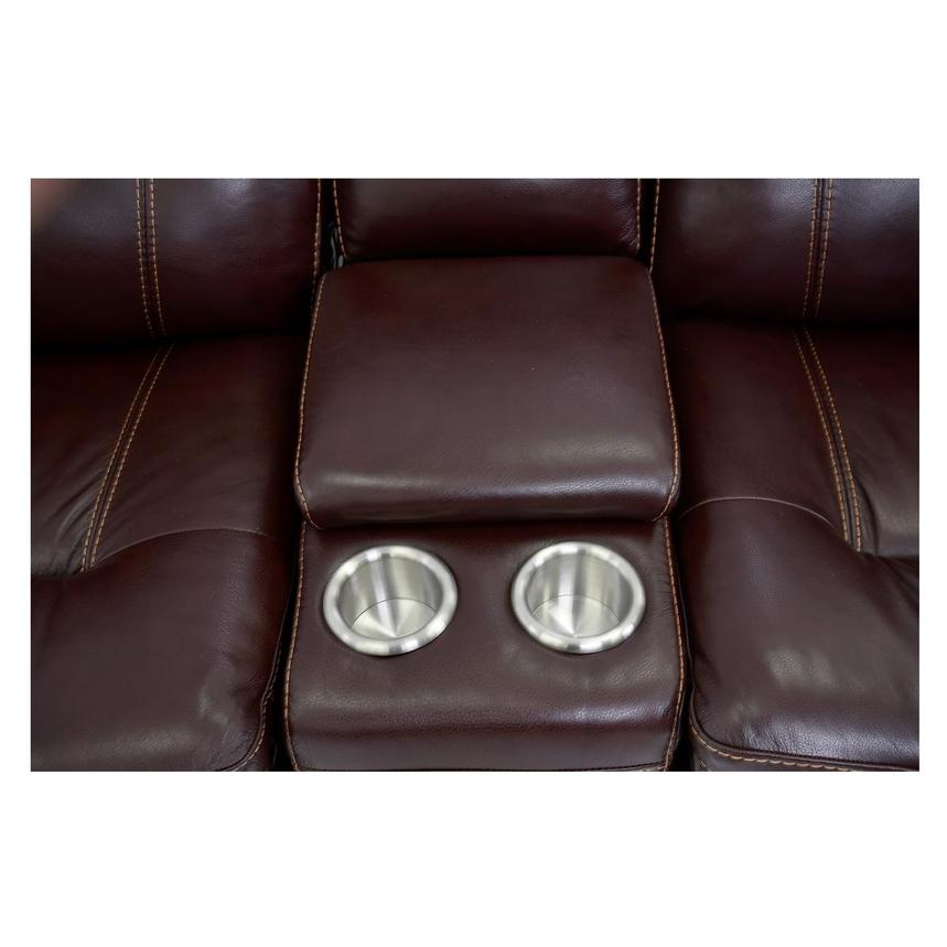 Napa Burgundy Home Theater Leather Seating  alternate image, 8 of 8 images.