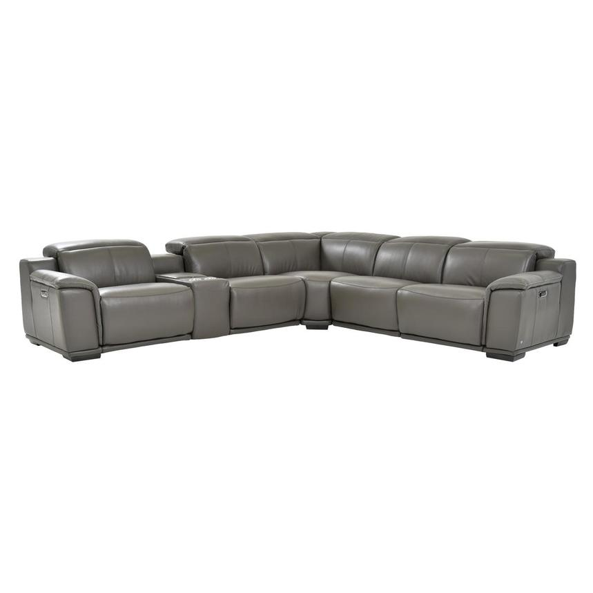 Miraculous Davis 2 0 Dark Gray Leather Power Reclining Sectional Gmtry Best Dining Table And Chair Ideas Images Gmtryco