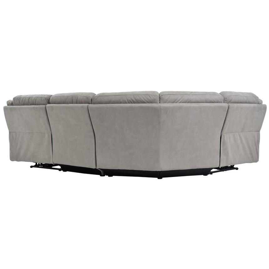 Stallion Ligth Gray Power Motion Sofa w/Right & Left Recliners  alternate image, 4 of 6 images.