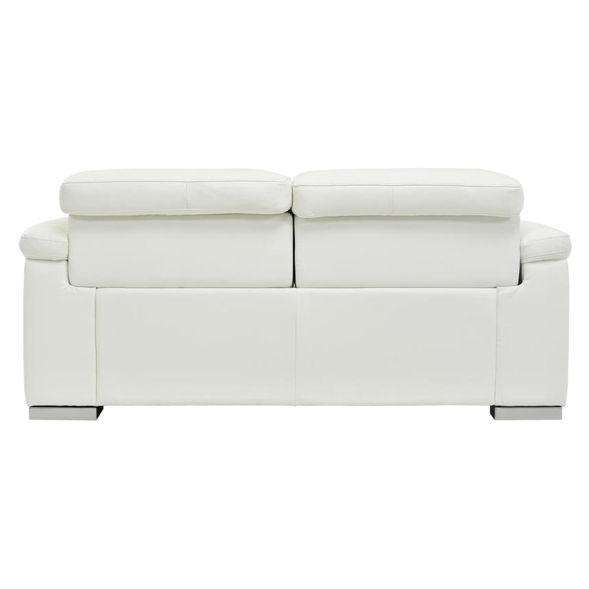 Charlie White Leather Power Reclining Loveseat  alternate image, 7 of 10 images.
