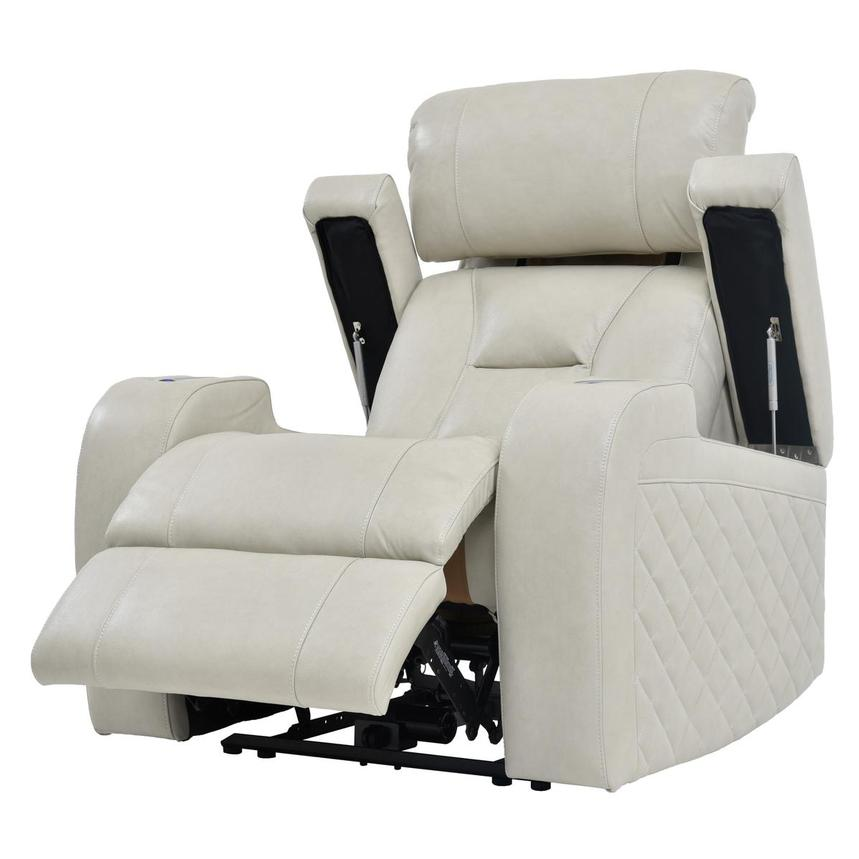 Gio Cream Power Motion Leather Recliner  alternate image, 3 of 9 images.