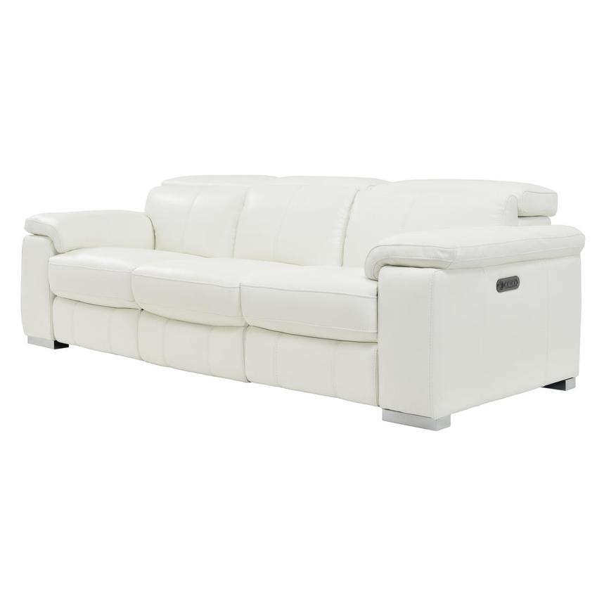 Charlie White Leather Power Reclining Sofa  alternate image, 4 of 10 images.