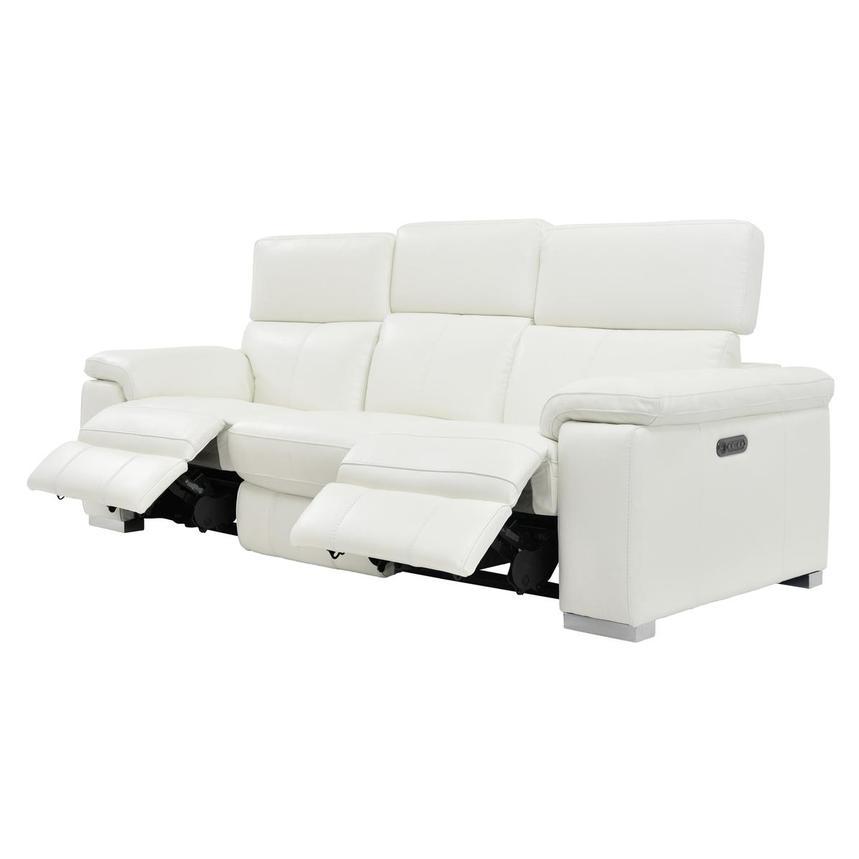 Pleasing Charlie White Leather Power Reclining Sofa Inzonedesignstudio Interior Chair Design Inzonedesignstudiocom