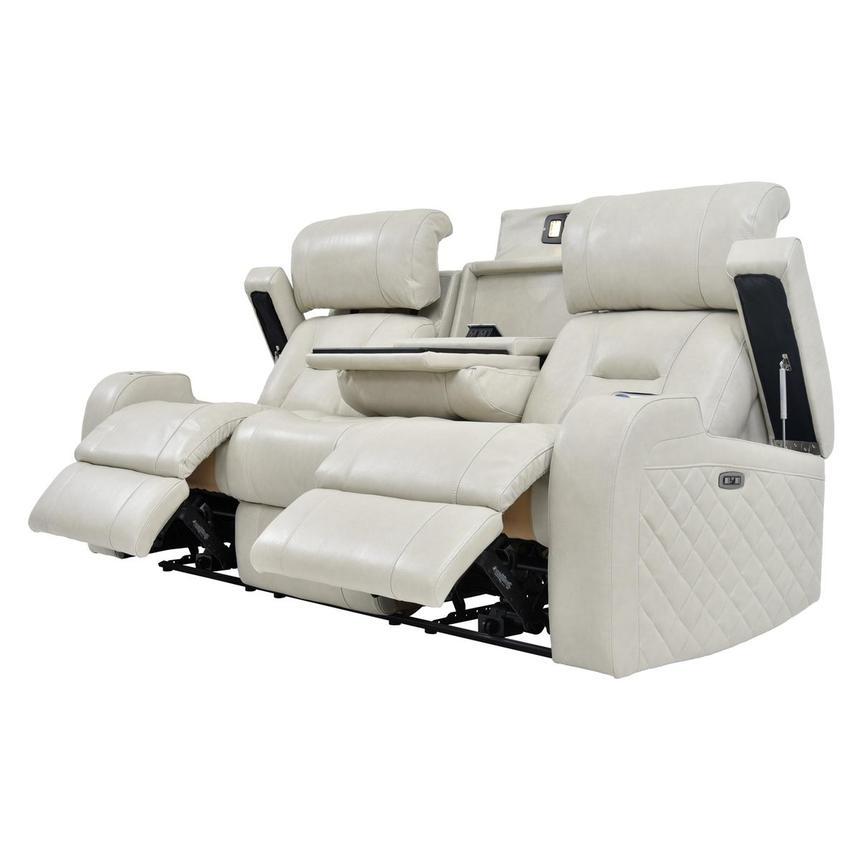 Gio Cream Leather Reclining Sofa