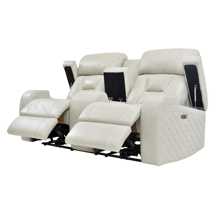 Gio Cream Leather Power Reclining Sofa w/Console  alternate image, 3 of 11 images.