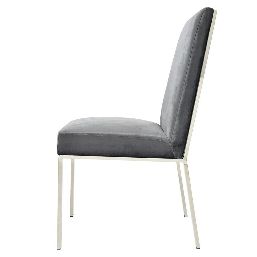 Wellington Dark Gray Side Chair  alternate image, 3 of 6 images.