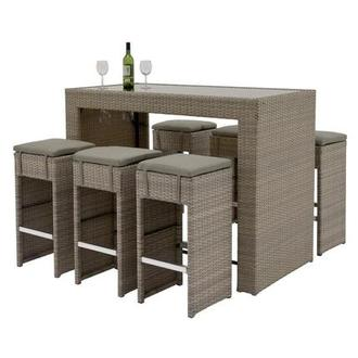 Neilina Brown 7-Piece Patio Set