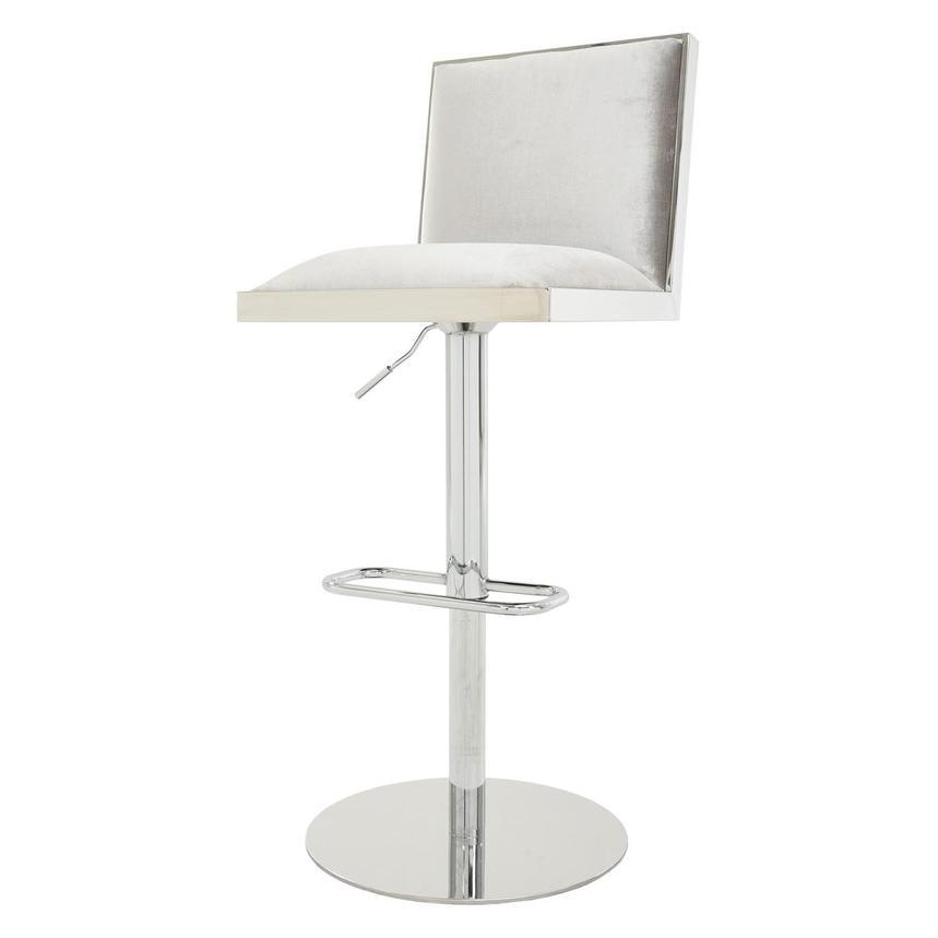 Allison Silver Gray Adjustable Stool El Dorado Furniture