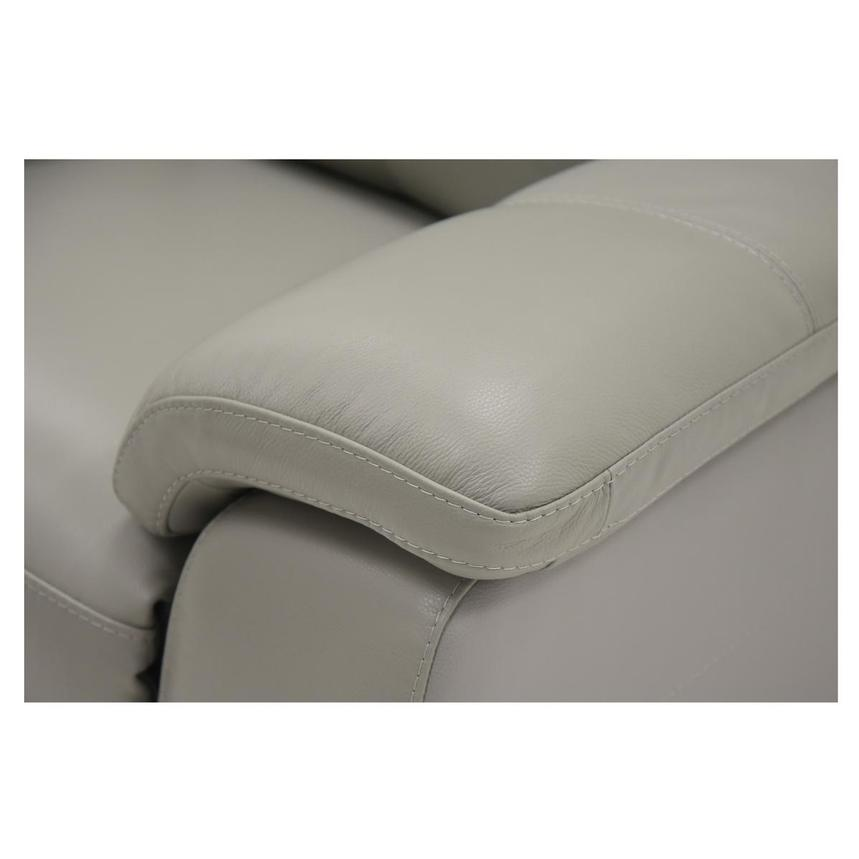 Barry Gray Leather Power Reclining Loveseat  alternate image, 8 of 10 images.
