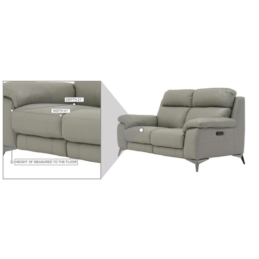 Barry Gray Leather Power Reclining Loveseat  alternate image, 10 of 10 images.