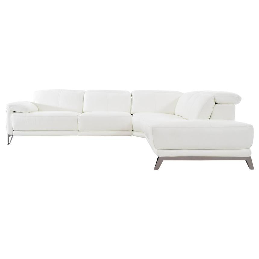 Shelley Leather Sofa w/Right Chaise  alternate image, 3 of 11 images.