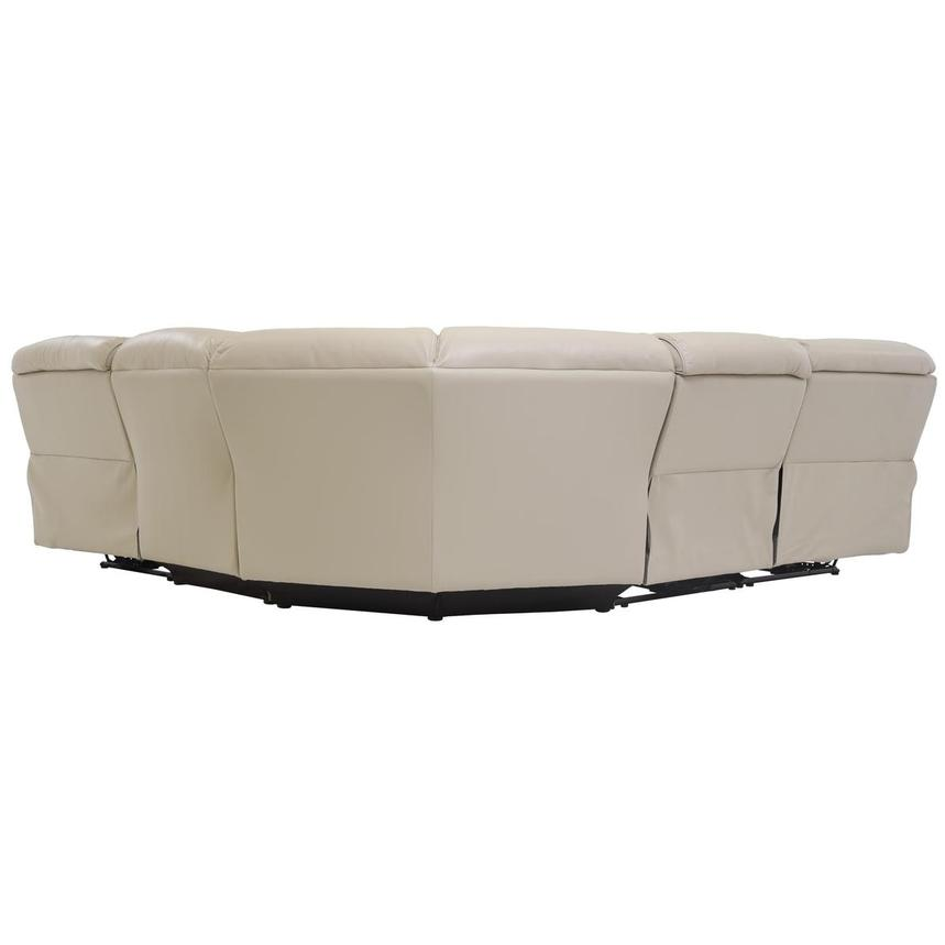 Cody Cream Power Motion Leather Sofa w/Right & Left Recliners  alternate image, 4 of 6 images.