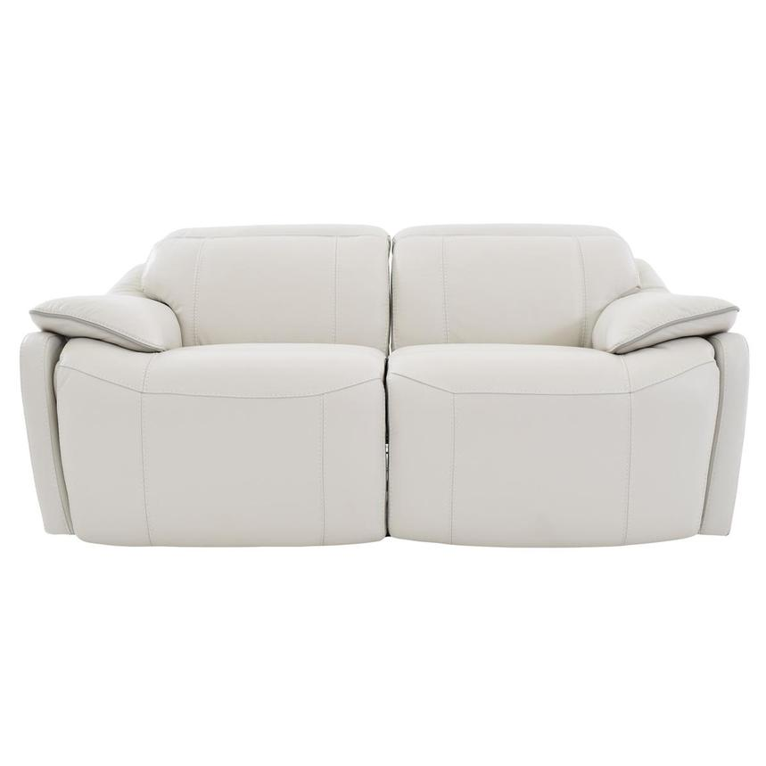 Austin White Leather Power Reclining Loveseat  main image, 1 of 8 images.