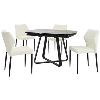 Adelle/Zari White 5-Piece Casual Dining Set