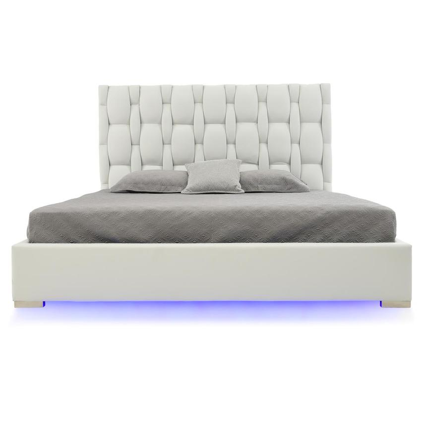 Livia White King Platform Bed  alternate image, 4 of 9 images.