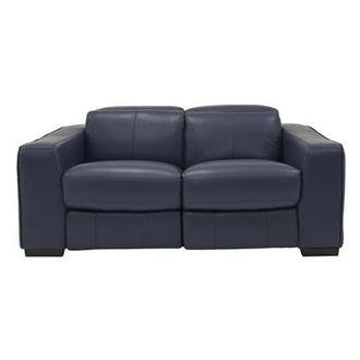 Jay Blue Leather Power Reclining Loveseat