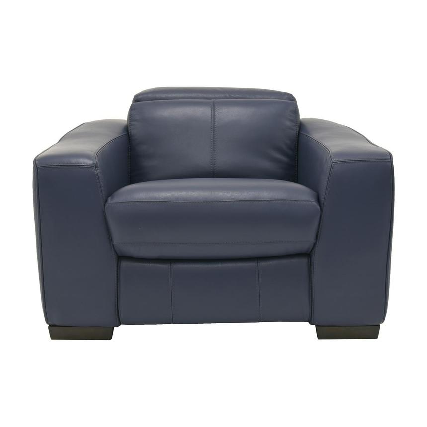 Jay Blue Power Motion Leather Recliner  main image, 1 of 7 images.