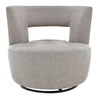 Noale Light Gray Swivel Accent Chair