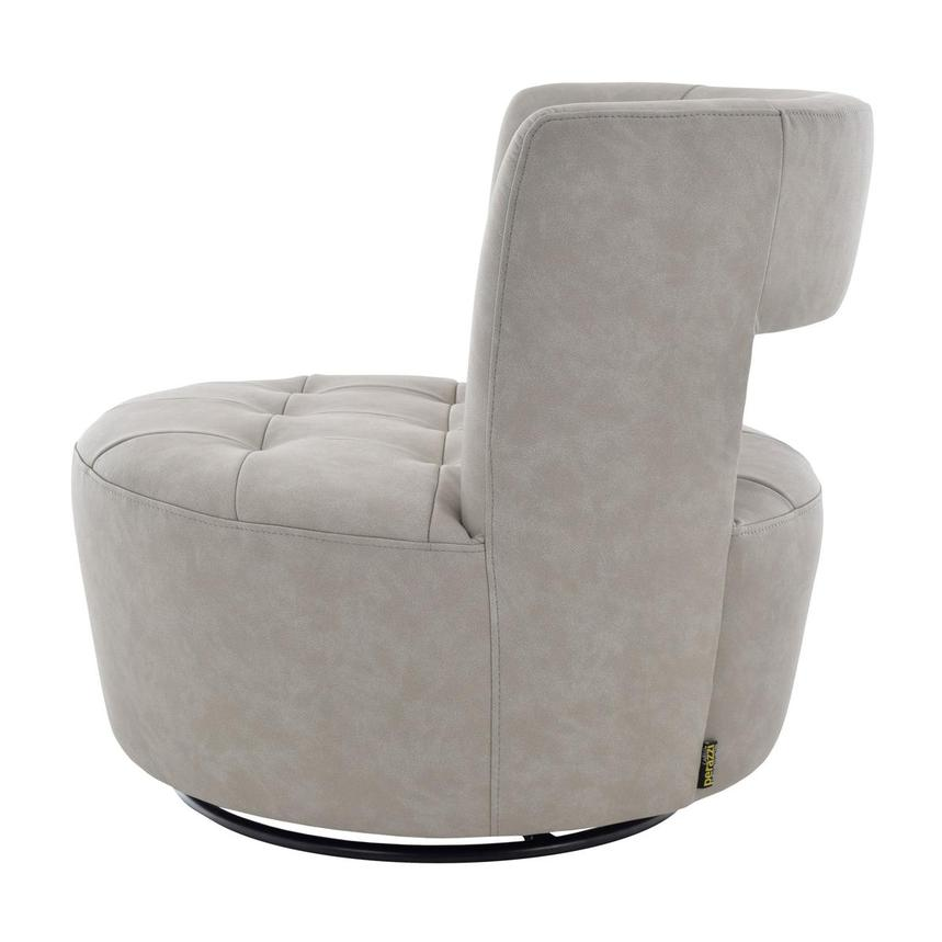 Noale Light Gray Swivel Accent Chair  alternate image, 3 of 6 images.